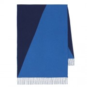 Hermes Casaque Stole In Navy And Blue Cashmere HJ00475