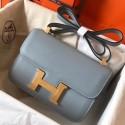 1:1 Replica Hermes Epsom Constance 24cm Blue Lin Handmade Bag HJ00651
