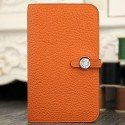 AAA 1:1 Hermes Dogon Combine Wallet In Orange Leather HJ00293
