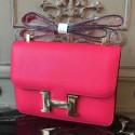 Cheap Replica Cheap Hermes Red Constance MM 24cm Epsom Leather Bag HJ00644