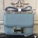 Copy Hermes Blue Lin Constance MM 24cm Epsom Leather Bag HJ00416