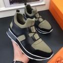 Copy Hermes Men Kaki/Noir Player Sneakers HJ00587