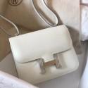 Designer Replica Hermes Mini Constance 18cm White Epsom Bag HJ00405