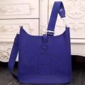Fake Fashion Designer Knockoff Hermes Electric Blue Evelyne III PM Bag HJ01038