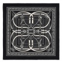Fake Hermes Black Grand Manege Bandana Shawl 140cm HJ00622