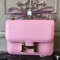 Fake Hermes Pink Constance MM 24cm Epsom Leather Bag HJ00941