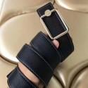 Fake Perfect Hermes Oscar Buckle 40 MM Belt Black Reversible Leather HJ00948