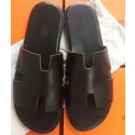 Fashion Cheap Imitation Hermes Black Swift Izmir Sandals HJ01091