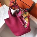 Fashion Replica Hermes Peach Picotin Lock MM 22cm Handmade Bag HJ01316