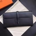 Hermes Black Epsom Jige Elan 29 Clutch HJ00729