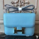 Hermes Blue Atoll Constance MM 24cm Epsom Leather Bag HJ01053
