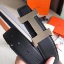 Hermes Constance Belt Buckle & Black Clemence 38 MM Strap HJ00558