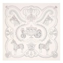 Hermes Creme Paperoles Silk Twill Scarf Replica HJ00055
