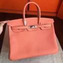 Hermes Crevette Clemence Birkin 35cm Handmade Bag HJ00404