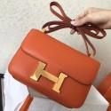 Hermes Epsom Constance 24cm Orange Handmade Bag HJ00314