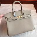 Hermes Grey Epsom Birkin 25cm Handmade Bag HJ00675