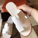 Hermes Izmir Sandals In White Epsom Leather HJ01248