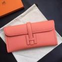 Hermes Jige Elan 29 Clutch Bag In Crevette Epsom Leather HJ01036