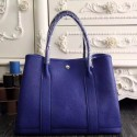 Hermes Medium Garden Party 36cm Tote In Electric Blue Leather HJ00017