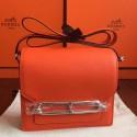 Hermes Mini Sac Roulis Bag In Orange Swift Leather Replica HJ00347
