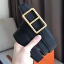 Hermes Officier Belt Buckle & Black 38MM Strap HJ00812