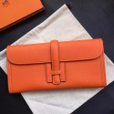 Hermes Orange Epsom Jige Elan 29 Clutch HJ00780