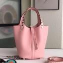 Hermes Pink Picotin Lock 18cm Bag With Braided Handles HJ00167