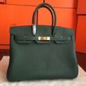 Hermes Vert Clemence Birkin 35cm Handmade Bag HJ01313