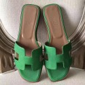 High End Replica Hermes Oran Sandals In Bamboo Epsom Leather HJ00012