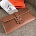 High Quality Copy Hermes Jige Elan 29 Clutch Bag In Brown Epsom Leather HJ00185
