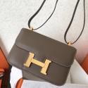 Imitation Fake Hermes Epsom Constance 24cm Taupe Handmade Bag HJ00392