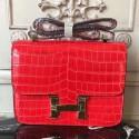 Imitation Faux High Quality Hermes Cherry Constance MM 24cm Crocodile Bag HJ00996