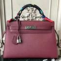 Imitation Hermes Bordeaux Epsom Kelly 32cm Sellier Bag HJ00102
