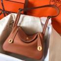 Imitation Hermes Gold Lindy 26cm Clemence Handmade Bag HJ00561