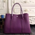 Imitation Hermes Medium Garden Party 36cm Tote In Purple Leather HJ00541