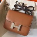 Imitation Hermes Mini Constance 18cm Gold Epsom Bag HJ00537