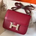 Imitation Hermes Mini Constance 18cm Ruby Epsom Bag HJ01106
