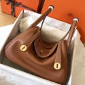 Knockoff High End Fake Hermes Gold Lindy 26cm Swift Handmade Bag HJ01282
