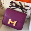 Knockoff Luxury Hermes Mini Constance 18cm Cyclamen Epsom Bag HJ00933