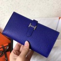 Knockoff Replica Luxury Hermes Blue Electric Epsom Bearn Gusset Wallet HJ00170
