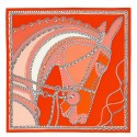 Luxury Hermes Piment Robe Du Soir Shawl 140CM HJ01057