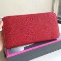 New High End Hermes Red Clemence Azap Zipped Wallet HJ00520