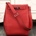 Perfect Copy Hermes So Kelly 22cm Bag In Red Leather HJ00439