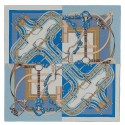 Replica Hermes Blue Grand Manege A Jouets Shawl 140cm HJ00884