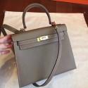 Replica Hermes Etoupe Epsom Kelly Sellier 28cm Handmade Bag HJ00461