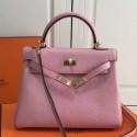 Replica Hermes Pink Clemence Kelly 25cm GHW Bag HJ00387