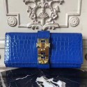 Replica High End Hermes Medor Clutch Bag In Blue Crocodile Leather HJ00213