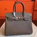 Replica Hot Hermes Etoupe Epsom Birkin 30cm Handmade Bag HJ00362