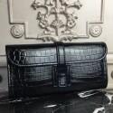 Replica Imitation Hermes Jige Elan 29 Clutch In Black Crocodile Leather HJ00406