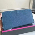 Replica Knockoff Hermes Blue Jean Azap Zipped Wallet HJ00861